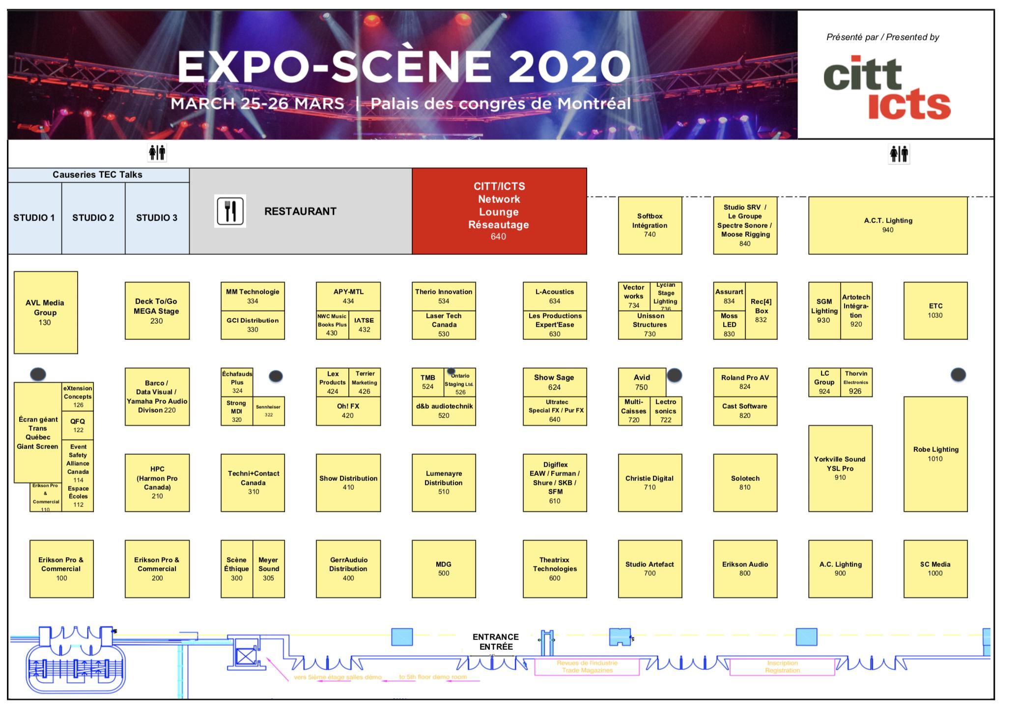 EXPO-SCÈNE 2020 floor plan