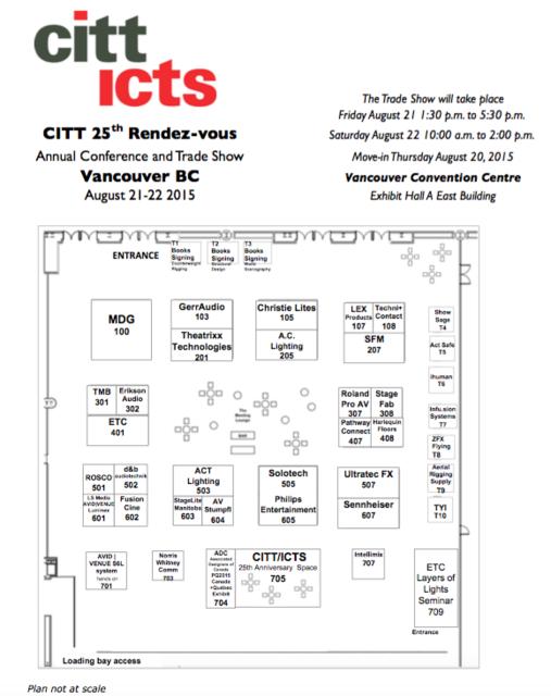 2016 citt trade show visitor pass for Trade show floor plan software