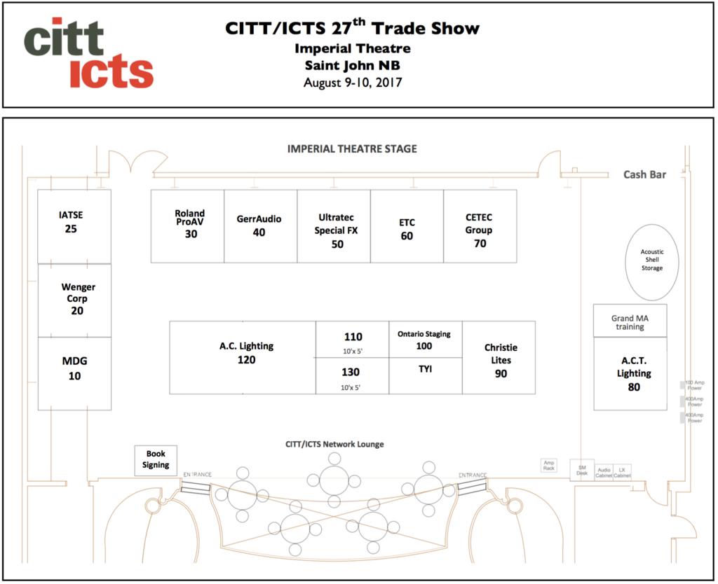 Trade show exhibitor sponsorship for Trade show floor plan
